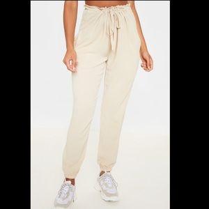 PRETTYLITTLETHING Cream Trouser Pants